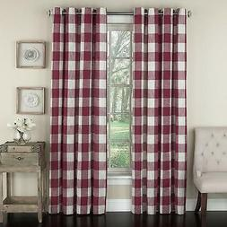 Lorraine Home Fashions 09570-84-00148 RED Courtyard Grommet