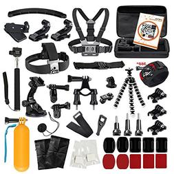 LyStar 51-in-1 Action Camera Accessories Kit Case Outdoor Sp