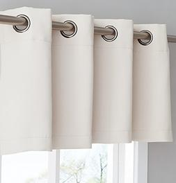 Warm Home Designs 1 Ivory Insulated Thermal Blackout Valance
