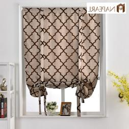NAPEARL 1 Panel Kitchen Balloon Curtains Tie Up Short Roman