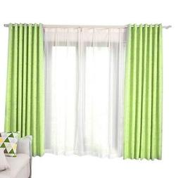 1 Pc Window Curtain Floral Printed Bedroom Drape Soft Kitche