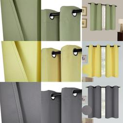 1 SET 100% BLACKOUT INSULATE THERMAL SHORT PANELS WINDOW CUR