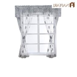 NAPEARL 1 Set Modern Window Valance and Tiers Tulle Kitchen