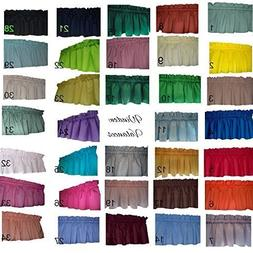 Solid valances curtains Navy Blue, Lime green, Light Yellow,