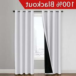 Flamingo P 100% Blackout Curtain Set, Thermal Insulated Ener
