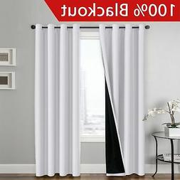Flamingo P 100% BLACKOUT Curtain Set, Thermal Insulated  Ene