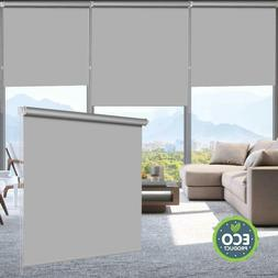 100%Blackout Waterproof Fabric Window Roller Shades,Thermal