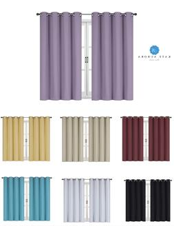 100% Thermal Blackout Bath & Kitchen Window Curtains - Assor