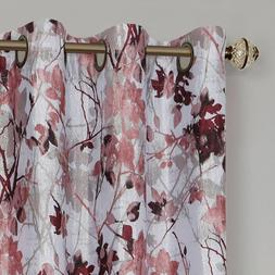 100% Thermal Lined Grommet Floral Blackout Curtains - Assort