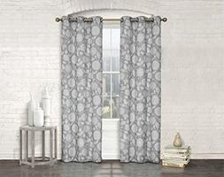 Studio 1012 Window Curtains - Set of Two Sheer Floral Print