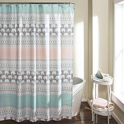 16t000122 elephant stripe shower curtain