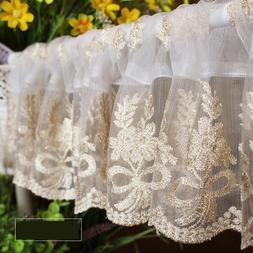 1pcs floral rural embroidered font b gold