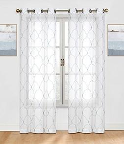 2 Pack: Regal Home Collections Brenda Trellis Embroidered Sh