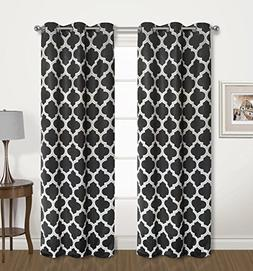2 Pack: Regal Home Collections Luxurious Trellis Design Blac