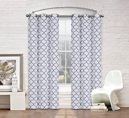2 Pack: Regal Home Collections Premium Trellis Grommet Curta