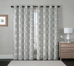 2 Blackout Window Curtains Panel Pair Grommet Thermal Gray M