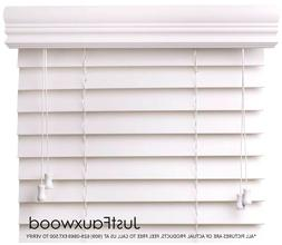 """CBC 2"""" Faux Wood Blinds White Custom Width 10""""-96"""" x Height"""