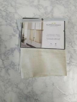 2 Pack THRESHOLD Bonaire Natural Beige Tier Curtain Panels |