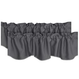 2 Pack Theme Insulated Kitchen Curtain Valances Rod Pocket S