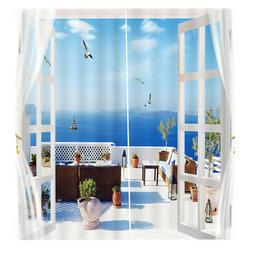 2 Panel Blackout Blinds Thermal Insulated Landscrape 3D Prin