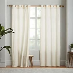 2 Panel Curtain 100% Cotton very thick material 60 Width wis