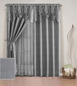 Fancy Linen 2 Panel Rod Pocket Curtain Drapes Embroidery Mod