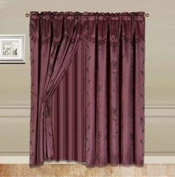 Home 2 Window Curtain  Valance and Sheer Backing and 2 Tasse