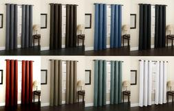 2 PANELS LINED HEAVY THICK  BLACKOUT GROMMET WINDOW CURTAIN