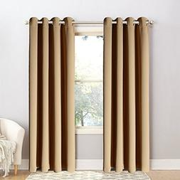 BLC Window Treatment Thermal Insulated Solid Grommet Blackou