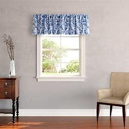 "Laura Ashley 211384 Charlotte Window Valance, 15 x 86"", Blue"