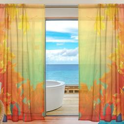 2Pcs Natural Bedroom <font><b>Curtain</b></font> Red The Map