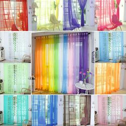 2pcs Sheer Voile Window Curtains/Drape/Panel/Scarf Assorted