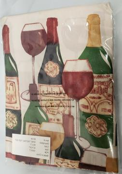 3 pc Kitchen Curtains Set , WINE TASTING
