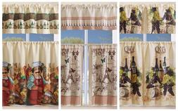 3 piece kitchen curtain with swag