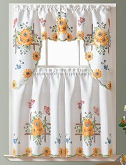 3pcs kitchen curtain cafe curtain set air