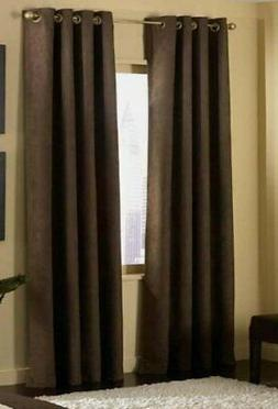 4 Pices Solid Suede Grommet Top Curtain/panel/drape