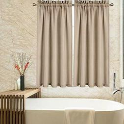 45 Inch Kitchen Curtains, Waffle Woven