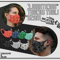 4PK Variety! Face Mask Paisley Breathable Reusable Washable