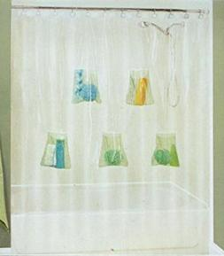 5 Mesh Pocket Shower Liner 70 x 72,colors may vary