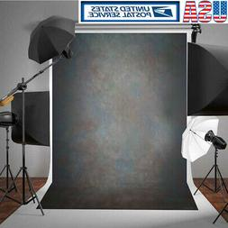 5x7FT Vinyl Black Grey Retro Photo Backdrop Photography Back