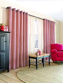 84'' Thermalogic Check Grommet-Top Curtain Pair, in Red Chec