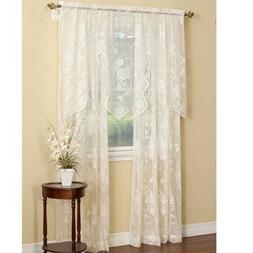 Abbey Rose Floral Lace Curtain