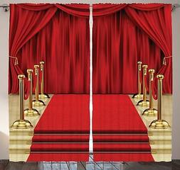 Ambesonne Digital Print Curtain Concert Theatre Stage Drape