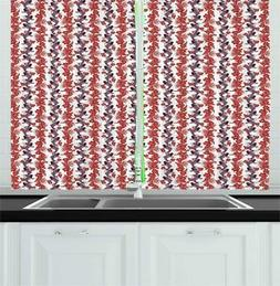 Ambesonne Sea Kitchen Curtains 2 Panel Set Home Decor Window