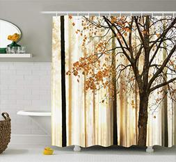 Ambesonne Shower Curtain Fall Trees Print Mom Gift Ideas Pol