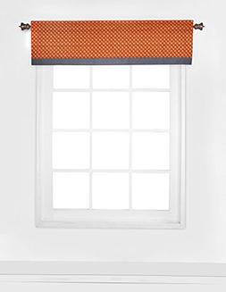 Bacati - Playful Foxs Orange/Grey Window Valance