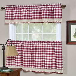 Buffalo Check Gingham Custom Window Curtain Treatments - Ass