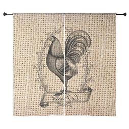 "CafePress - French Country Rooster Decor Burlap T - 60"" Deco"