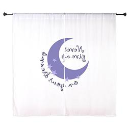 """CafePress - NEVER GIVE UP ON DREAMS Curtains - 60"""" Decorativ"""