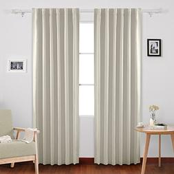 Deconovo Back Tab Solid Thermal Insulated Blackout Curtain /